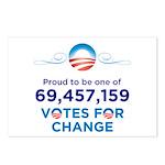 Obama: 69,457,159 Votes for Change Postcards