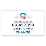 69,457,159 Votes for Change Sticker (10 pack)