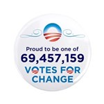 "Obama: 69,457,159 Votes 3.5"" Button (100 pac"