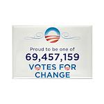 69,457,159 Votes for Change Rect. Magnet 100 pack