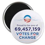 Obama: 69,457,159 Votes for Change Magnet