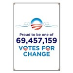 Obama: 69,457,159 Votes for Change Banner
