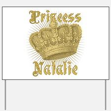 Vintage Princess Natalie Personalized Yard Sign