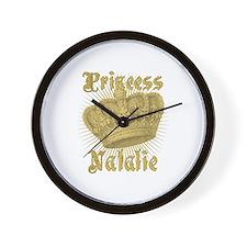 Vintage Princess Natalie Personalized Wall Clock
