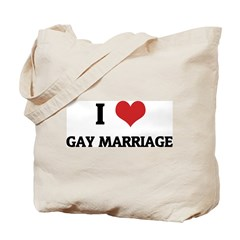 I Love Gay Marriage Tote Bag
