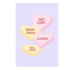 Love Hearts Postcards (Package of 8)