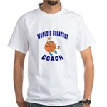 Baketball Coach White T-Shirt
