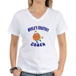 Baketball Coach Women's V-Neck T-Shirt