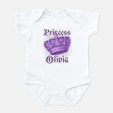 Vintage Princess Olivia Personalized Infant Bodysu