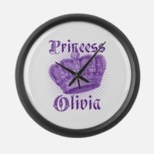 Vintage Princess Olivia Personalized Large Wall Cl