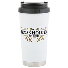Aces Texas Hold'em No Limit Travel Mug
