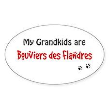 Bouvier Grandkids Oval Decal