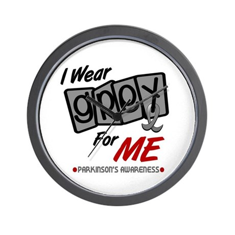 I Wear Grey For ME 8 PD Wall Clock