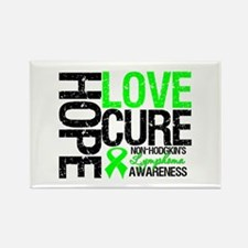 NonHodgkinHopeLoveCure Rectangle Magnet