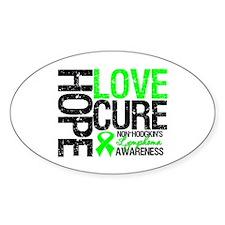 NonHodgkinHopeLoveCure Oval Sticker (10 pk)