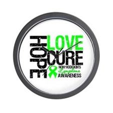 NonHodgkinHopeLoveCure Wall Clock