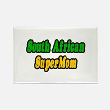 """""""South African Super Mom"""" Rectangle Magnet"""