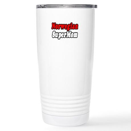 """""""Norwegian Super Mom"""" Stainless Steel Travel Mug"""