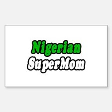 """Nigerian Super Mom"" Rectangle Sticker 50 pk)"