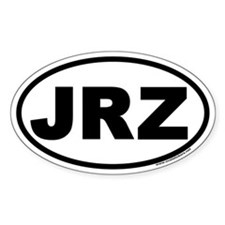 JRZ New Jersey Euro Oval Decal