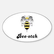 Robobee Bumble Bee Bee-otch Oval Decal