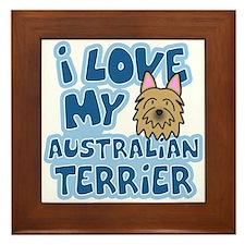 I Love my Australian Terrier Framed Tile