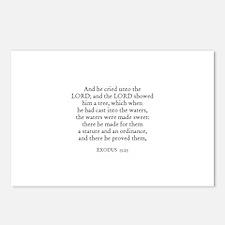 EXODUS  15:25 Postcards (Package of 8)