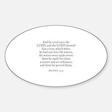 EXODUS 15:25 Oval Decal