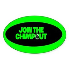 Chimpout! Oval Decal