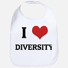 I Love Diversity Bib