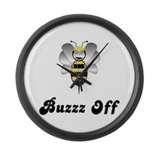 Robobee Bumble Bee Buzz Off Large Wall Clock