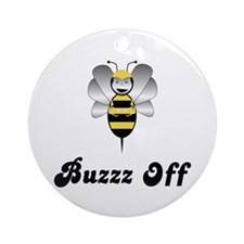 Robobee Bumble Bee Buzz Off Ornament (Round)