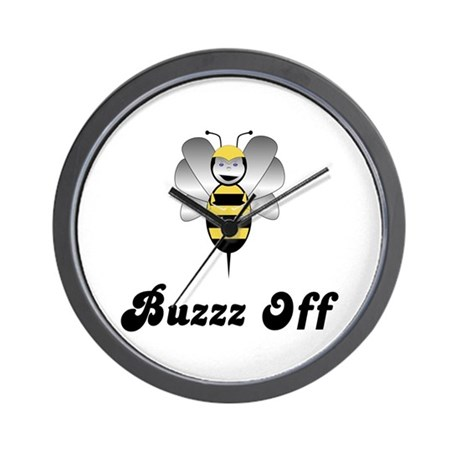 Robobee Bumble Bee Buzz Off Wall Clock