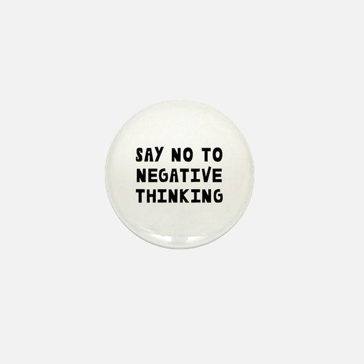 Say No Mini Button