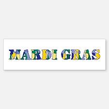 Mardi Gras RS Camo Bumper Bumper Sticker
