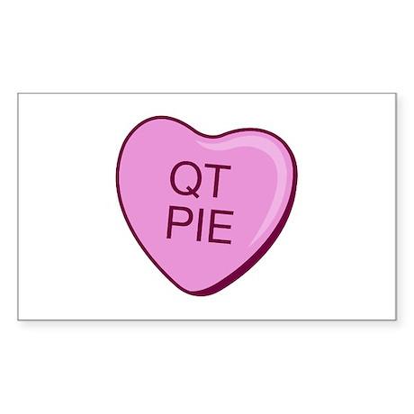 """QT Pie"" Rectangle Sticker"