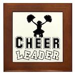 Cheerleading Framed Tile
