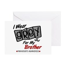 I Wear Grey For My Brother 8 PD Greeting Card