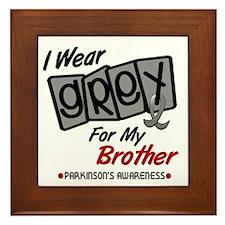 I Wear Grey For My Brother 8 PD Framed Tile