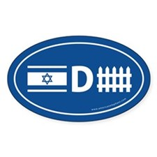 Israel Defense Oval Decal