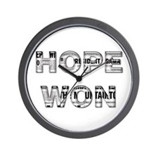 Hope Won Wall Clock