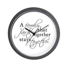 A FAMILY THAT FARTS TOGETHER Wall Clock