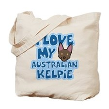 I Love my Australian Kelpie Tote Bag (Cartoon)