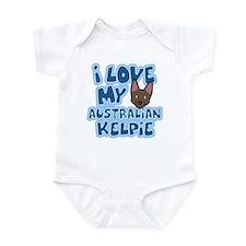 I Love my Australian Kelpie Infant Bodysuit