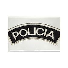 Policia Rectangle Magnet