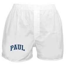 Paul Collegiate Style Name Boxer Shorts