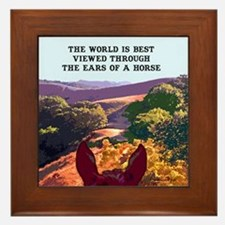 Through the ears of a horse. Framed Tile