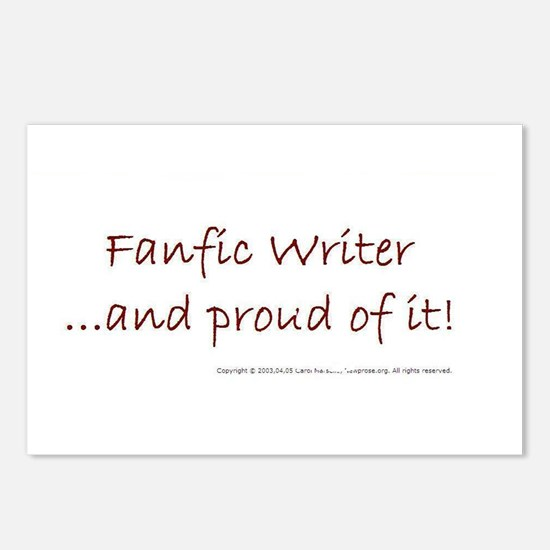 FANFIC WRITER AND PROUD OF IT Postcards (Package o