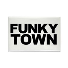 FUNKY TOWN Rectangle Magnet