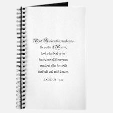 EXODUS 15:20 Journal